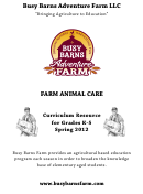 Farm Animal Care Curriculum Resource