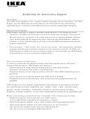 Ikea Community Support Program Application Form