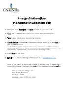 Electronic Change Of Address Form