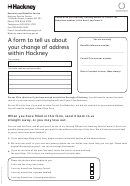 Housing Benefit And Council Tax Reduction Change Of Address Form