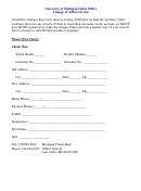 Change Of Address Form