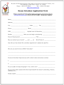House Volunteer Application Form