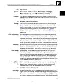 Address Correction, Address Change, Fastforward, And Return Services