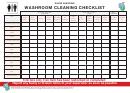 Restaurant Washroom Cleaning Checklist