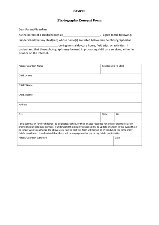 18 Photo Consent Form Templates free to download in PDF