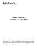 General Partnership Agreement Of Dissolution