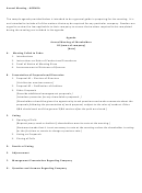 Annual Meeting Of Shareholders Agenda Template