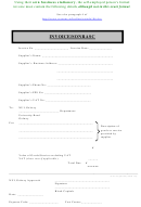 Self-employed Person's Formal Invoice Template
