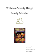 Family Member Activity Pack With Behavior Chart