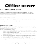 Office Depot Cd Label/jewel Case