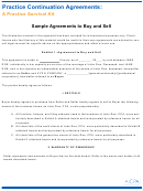 A Practice Survival Kit Sample Agreements To Buy And Sell