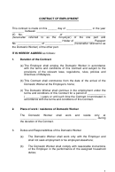 Contract Of Employmenttemplate