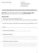 Application Form For United States Service Academy Nomination