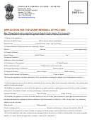 Consulate General Of India Application For The Grant/renewal Of Pio Card