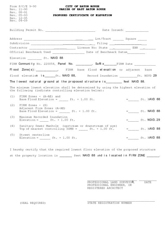 elevation certificate form - Mersn.proforum.co