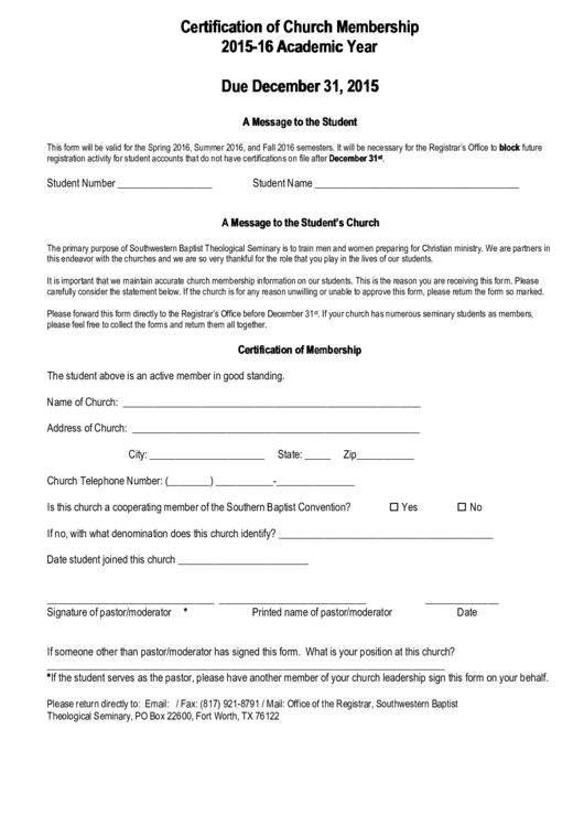 Top 9 church membership form templates free to download in pdf format certification of church membership thecheapjerseys Choice Image