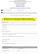 Nevada Birth Certificate Application