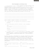 Risk Assessment And Release Form