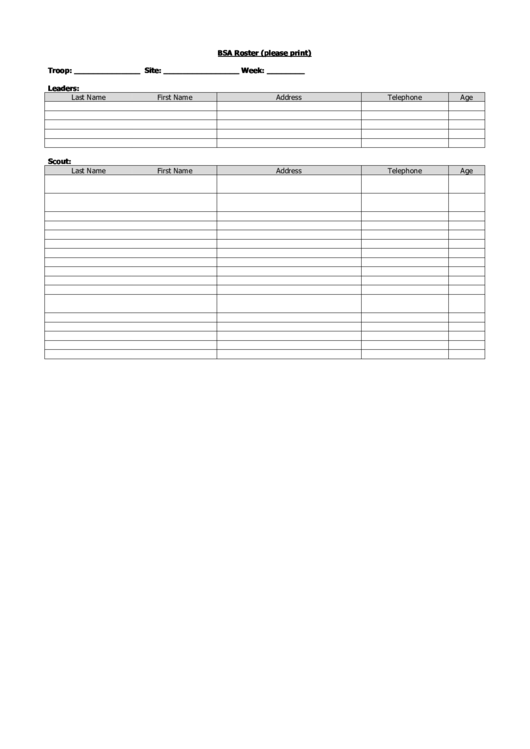youth football roster template