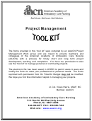 Project Management Forms Tool Kit