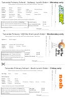 Tanunda Primary School - Subway Lunch Order Form
