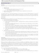 Risk Assessment Workshet And Management Plan Template