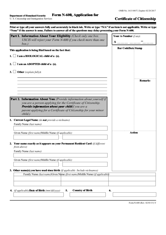 Citizenship Application Form N-400 Online - US Immigration