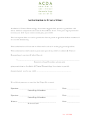 Authorization To Treat A Minor