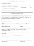 Church Permission Slip And Church Health Form