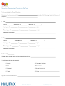 Recreation Programming Permission Slip Form