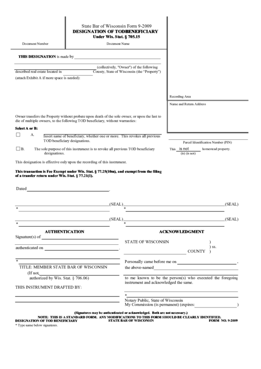 fillable designation of tod beneficiary printable pdf download