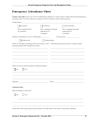 School Emergency Response Plan Emergency Attendance Sheet