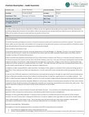 Position Description - Audit Associate