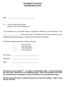 Retirement Incentive Resignation Letter Template