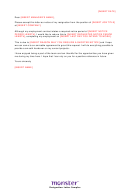 Short Notice Resignation Letter Template