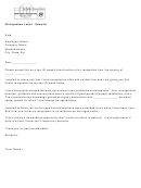Sample 2 Weeks Notice Resignation Letter Template