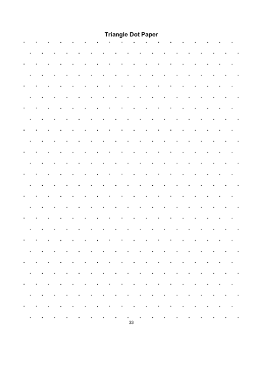 Triangle Dot Paper Printable pdf