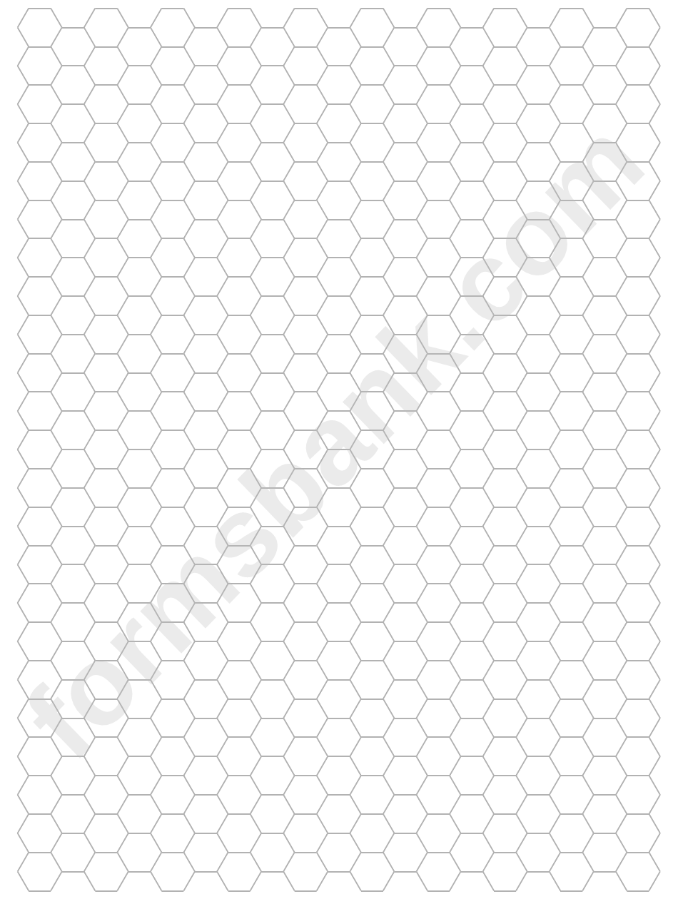 hexagon graph paper printable pdf download