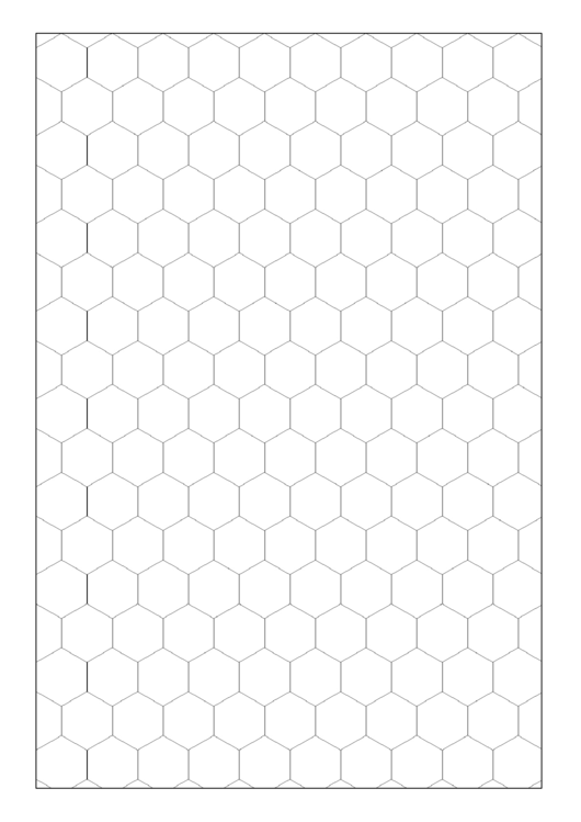 Hexagon Graph Paper Printable pdf