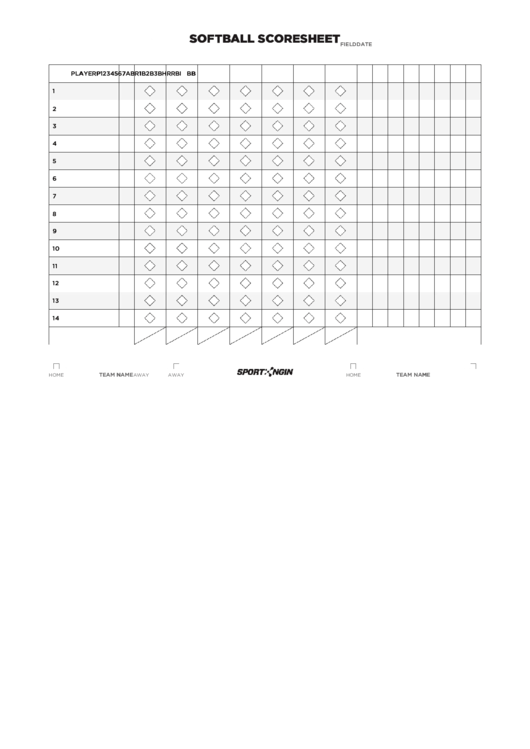Softball Scoresheet