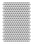 Triangle Graph Paper Template - Black