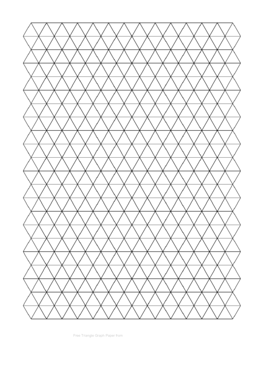 Triangle Graph Paper Template - Black Printable pdf