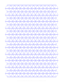 Triangle Graph Paper Template - Light Grey