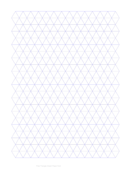 Triangle Graph Paper Template - Light Grey Printable pdf