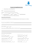 Personal Training/medical Forms