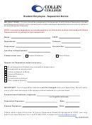 Student Employee - Separation Notice