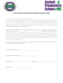 Youth Sports Participation Medical Release Form