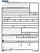 Adult Simplified Renewal Passport Application Form