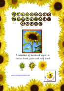 Decorated Sunflower Border Paper