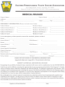Eastern Pennsylvania Youth Soccer Association Medical Release